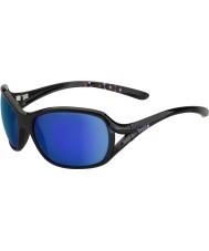 Bolle Solden Shiny Black Blue-Violet Sunglasses