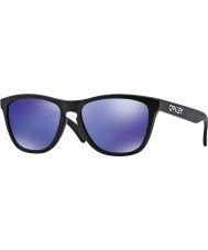 Oakley 24-298 Frogskins Matte Black - Violet Iridium Sunglasses