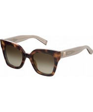 MaxMara Ladies MM Prism IV GXV JD Havana Sunglasses