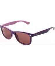 RayBan Junior RJ9052S 47 New Wayfarer Top Violet On Pink 179-84 Sunglasses