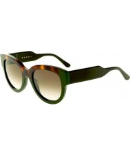 Marni Ladies ME600S Havana and Green Sunglasses