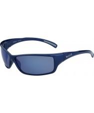 Bolle Slice Shiny Blue Polarized Offshore Blue Sunglasses