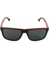 Emporio Armani EA4033 56 Modern Black Red Rubber 532487 Sunglasses