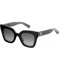 MaxMara Ladies MM Prism IV 6FQ VK Black Sunglasses