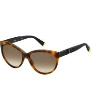 MaxMara Ladies MM Modern III 5FC J6 Dark Havana Black Sunglasses