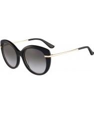 Salvatore Ferragamo Ladies SF724S Black Sunglasses
