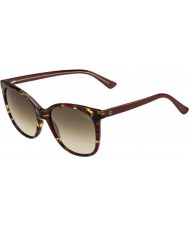 Gucci Ladies GG 3751-S 17R CC Burgundy Havana Sunglasses