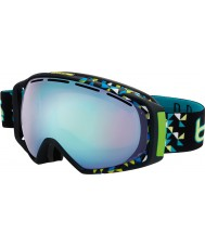 Bolle 21151 Gravity Black Diagonal - Vermillon Blue Ski Goggles