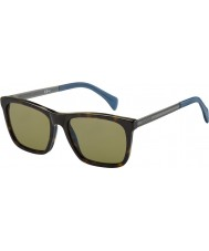 Tommy Hilfiger Mens TH 1435-S 0EX A6 Dark Havana Ruthenium Sunglasses
