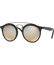 RayBan RB4256 49 Gatsby Matte Black 6253B8 Grey Mirror Sunglasses