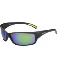 Bolle Slice Matte Black Brown Emerald Sunglasses