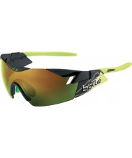 Bolle 6th Sense Matt Smoke Green Brown Emerald Sunglasses