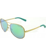 Michael Kors MK5004 59 Chelsea Gold 10043R Green Mirrored Sunglasses