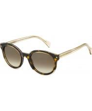 Tommy Hilfiger Ladies TH 1437-S KY1 J6 Yellow Havana Beige Sunglasses