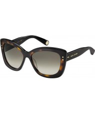 Marc Jacobs Ladies MJ 429-S 38W HA Tortoiseshell Sunglasses