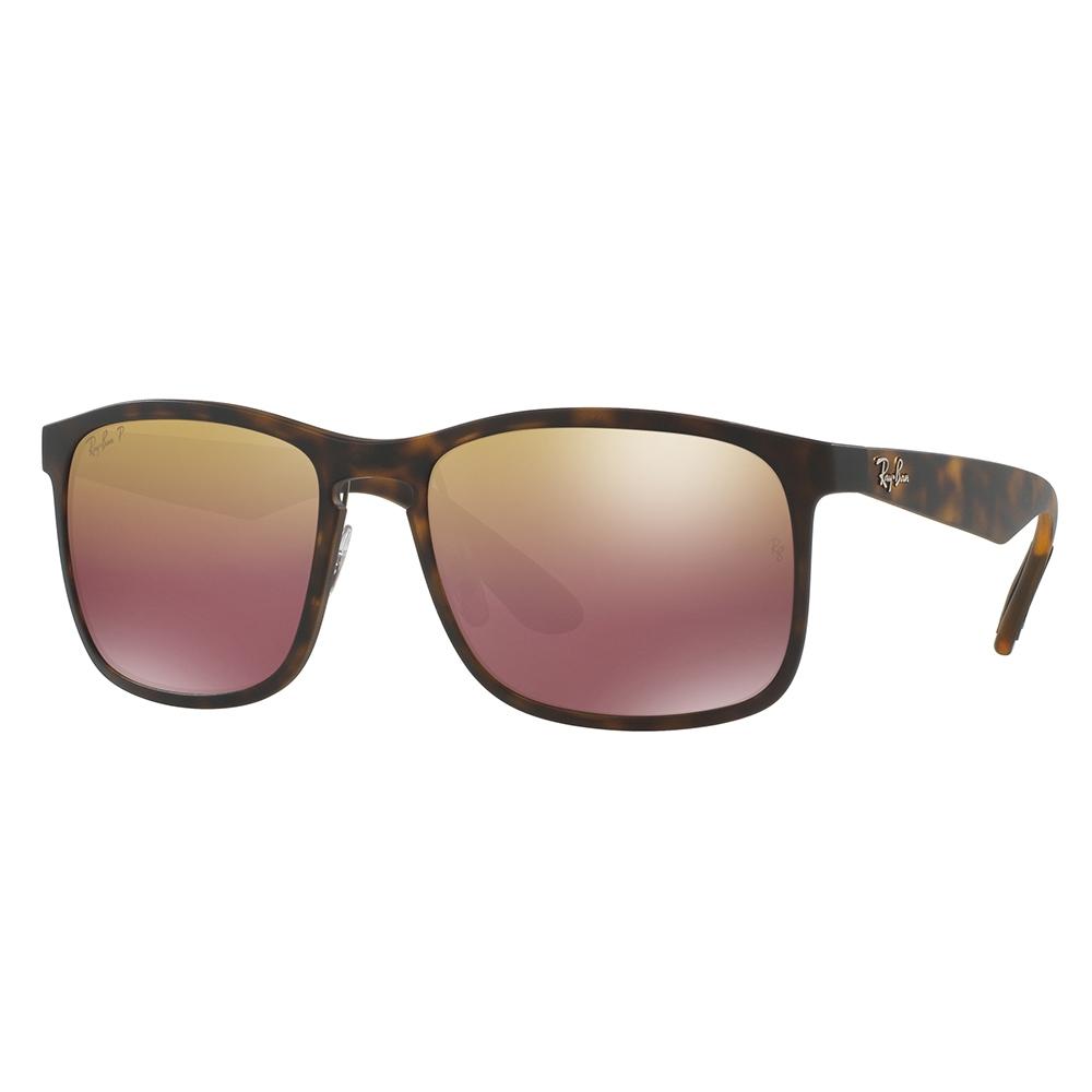 e4d6cf48564 RayBan RB4264 58 Tech Chromance Matte Havana 894-6B Brown Mirror Polarized  Sunglasses