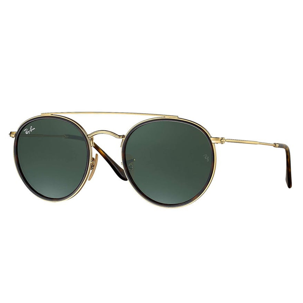 b773bf7528a RayBan RB3647N 51 001 Round Double Bridge Sunglasses