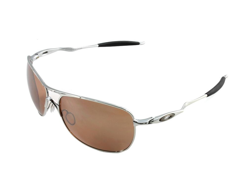 5a3576d963 Oakley OO4060-02 Crosshair Chrome - VR28 Black Iridium Sunglasses ...