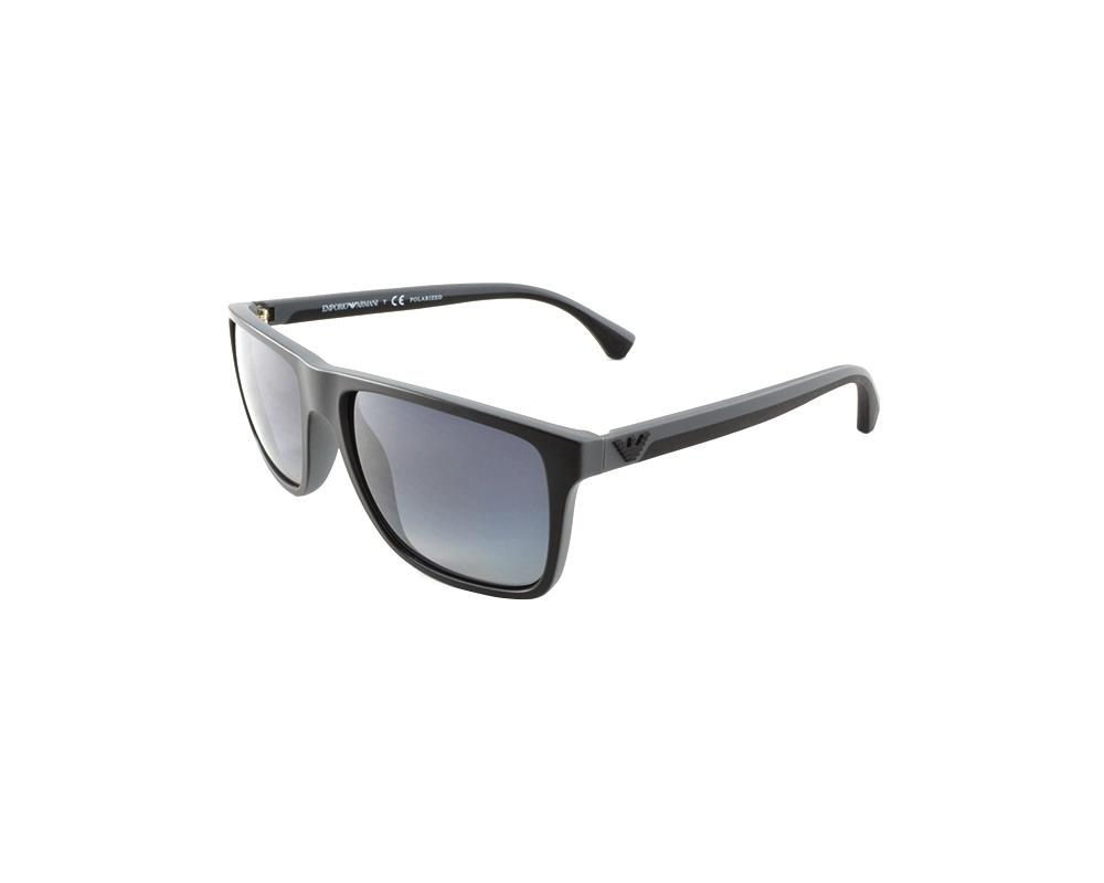 cbf4a37bb7 Emporio Armani EA4033 56 Modern Black Grey Rubber 5229T3 Polarized  Sunglasses