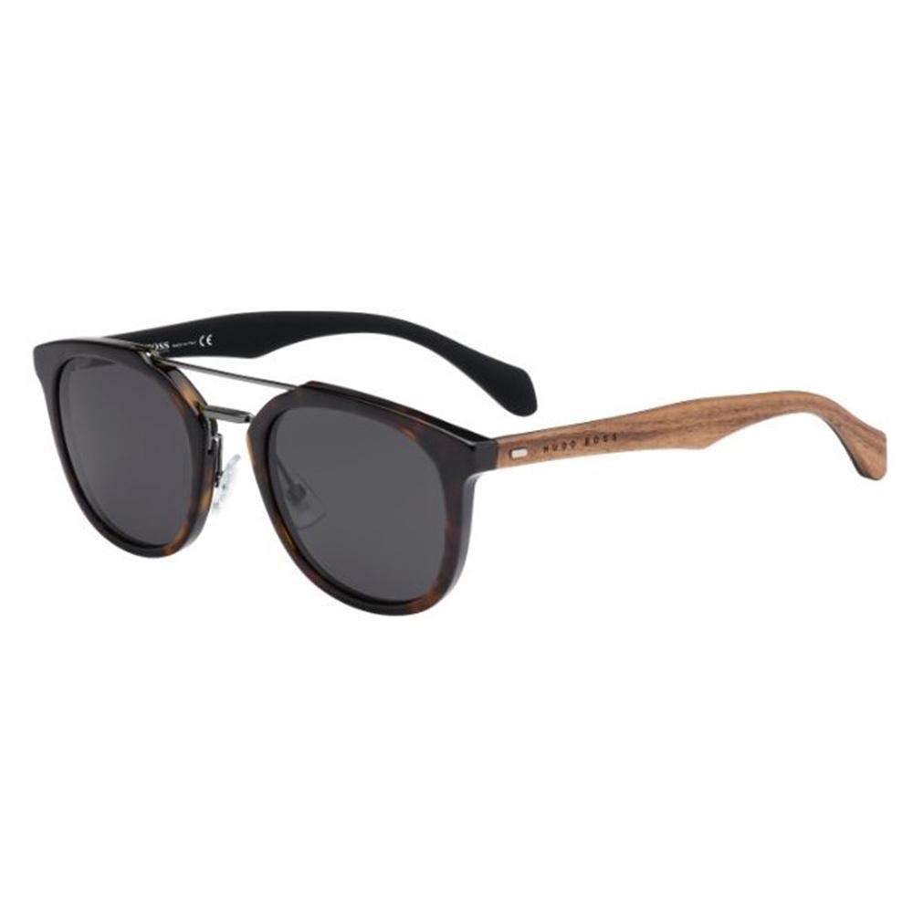 HUGO BOSS Mens BOSS 0777-S RAH Y1 Havana Brown Sunglasses 6ce0bdf0f425