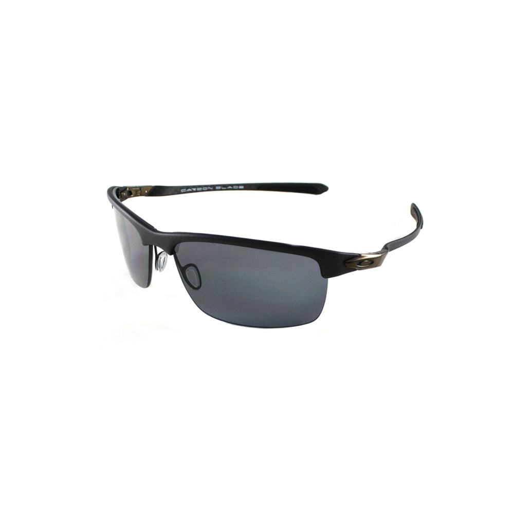 134a0f00fdbaf Oakley OO9174-01 Carbon Blade Matte Carbon - Grey Polarized Sunglasses