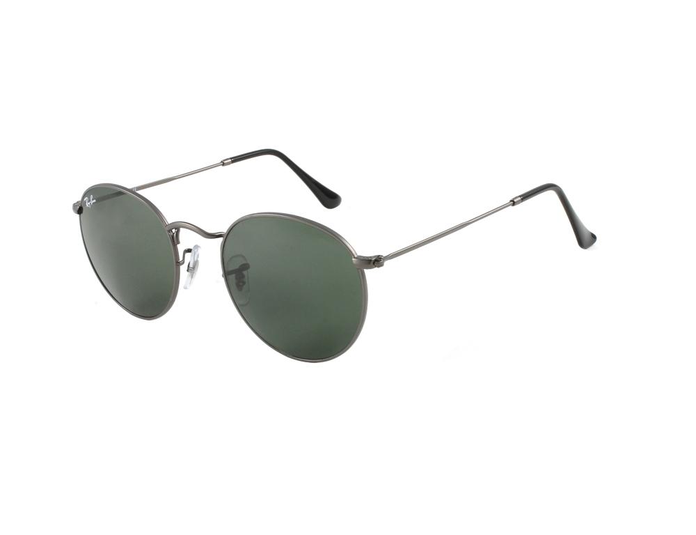 cafb1edca02 RayBan RB3447 50 Round Metal Matte Gunmetal 29 Sunglasses