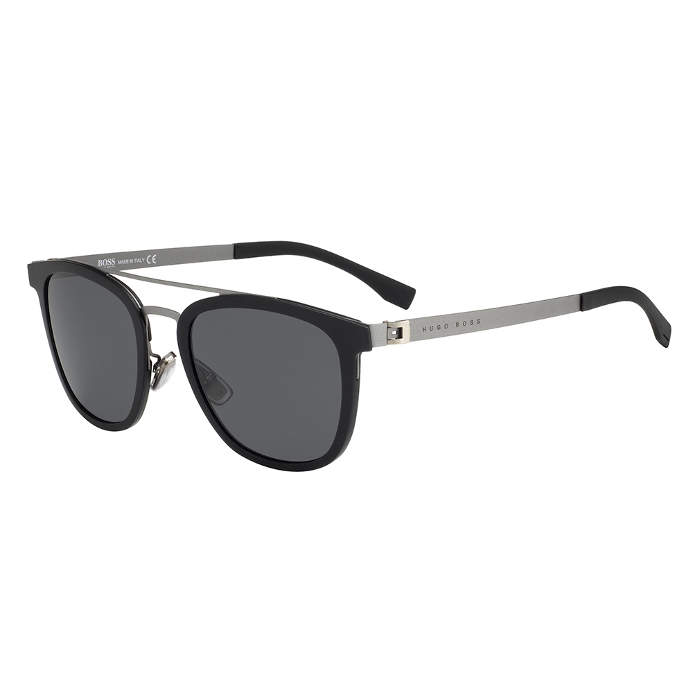 e711f763d3 HUGO BOSS Mens BOSS 0838-S 793 IR Black Dark Ruthenium Sunglasses