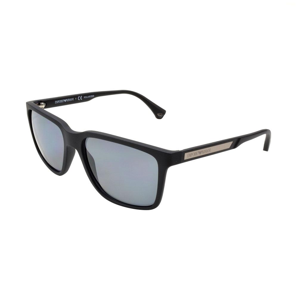 45e28ca6da Emporio Armani EA4047 56 Modern Black Rubber 506381 Polarized Sunglasses