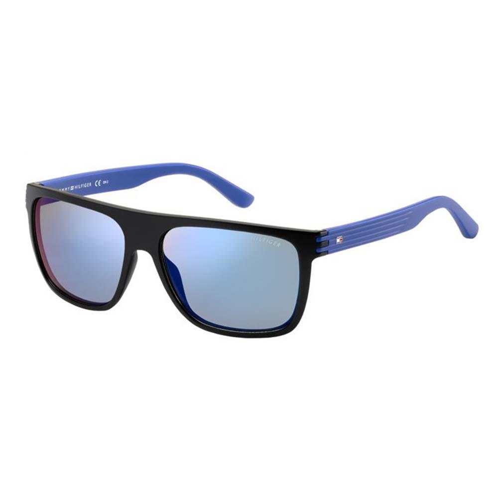 fa1544ef59 Tommy Hilfiger Mens TH 1277-S FB1 23 Black Blue Sunglasses
