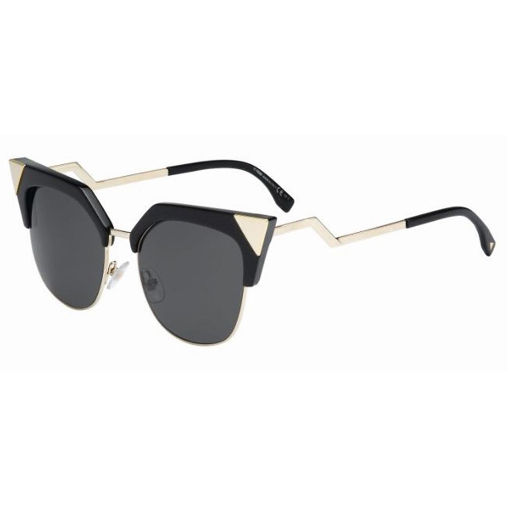 fb65199dac55 Fendi Iridia FF 0149-S REW P9 Black Gold Sunglasses