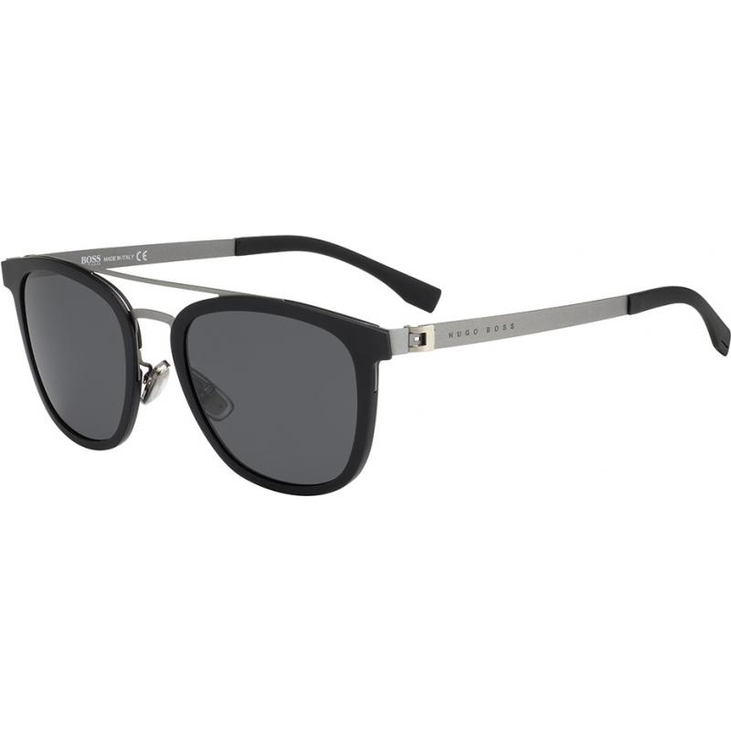 b0c0f6a714 HUGO BOSS Mens BOSS 0838-S 793 IR Black Dark Ruthenium Sunglasses