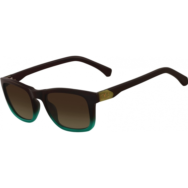 04ef3f6e71 Calvin Klein Jeans CKJ725S Brown and Teal Gradient Sunglasses