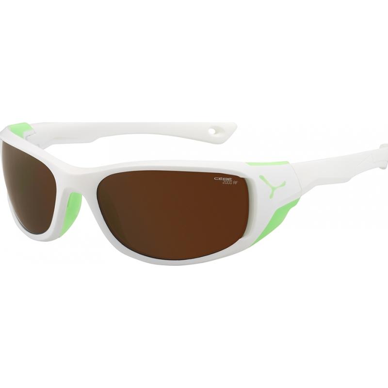 Cebe CBJOM2 Jorasses médios Matt White verdes 2000 em flash marrom espelho óculos de sol