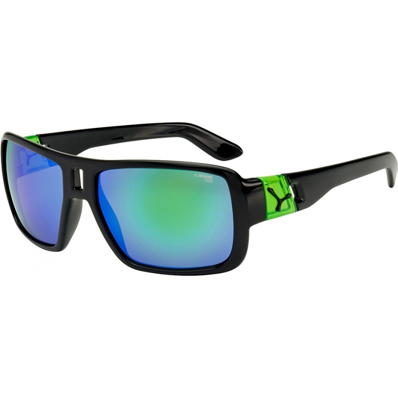 Cebe CBLAM1 Lam skinnende svart grønne solbriller