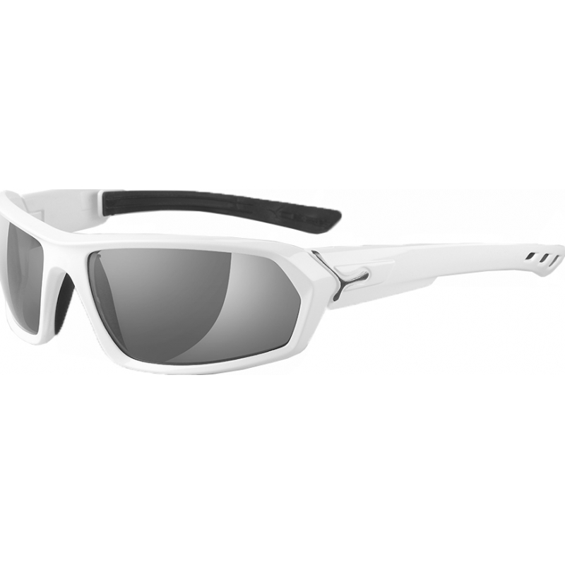 Cebe CBSTEEM5 S-myldre skinnende hvite polariserte solbriller