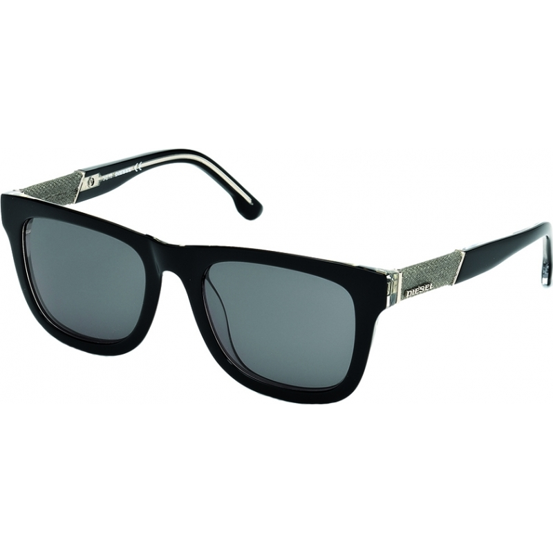 mens shades r8rn  Diesel DL0050-03A Mens DL0050 Black Crystal Sunglasses