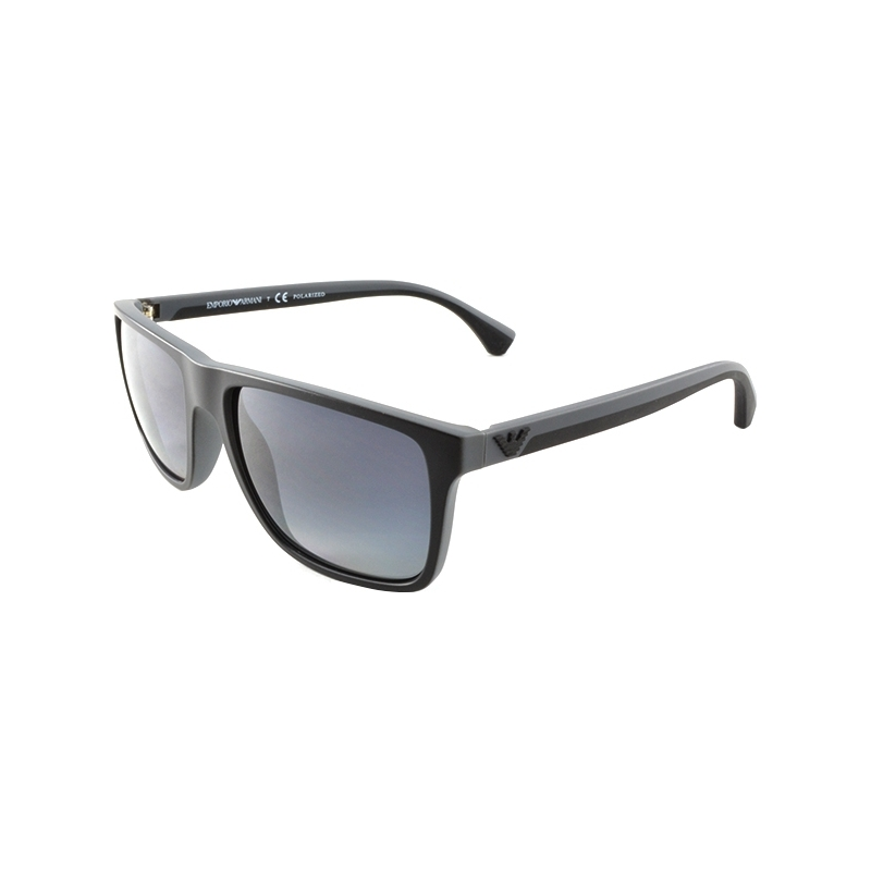 48afbe3bf8 Emporio Armani EA4033 56 Modern Black Grey Rubber 5229T3 Polarized  Sunglasses