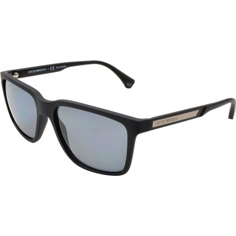 Emporio Armani EA4047 56 Modern Black Rubber 506381 Polarized Sunglasses 6e1e11716f
