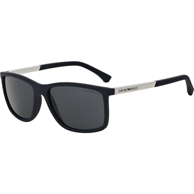 Emporio Armani EA4058-58-547487 EA4058 58 Modern Blue Rubber 547487 Sunglasses