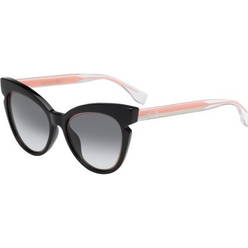 Fendi FF0132-S-N7A-JJ-51 Lines ff 0132-s N7A jj svart krystall rosa solbriller