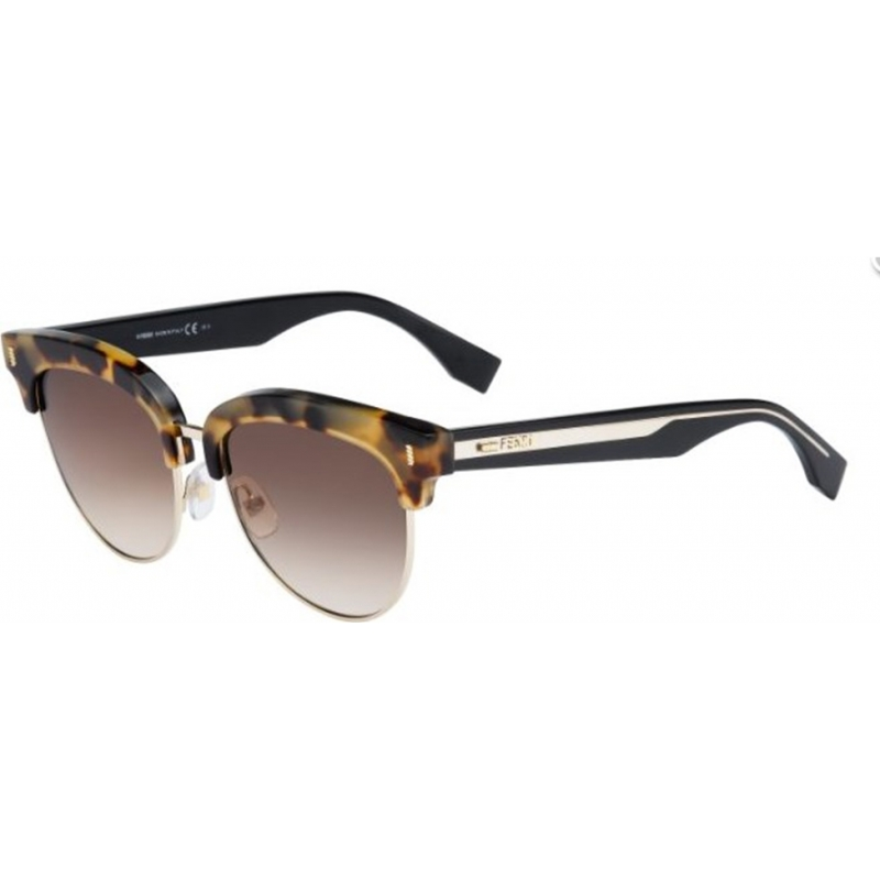 3cb32fd7a506 Fendi Colour Block FF 0154-S UDS JD Light Havana Black Sunglasses