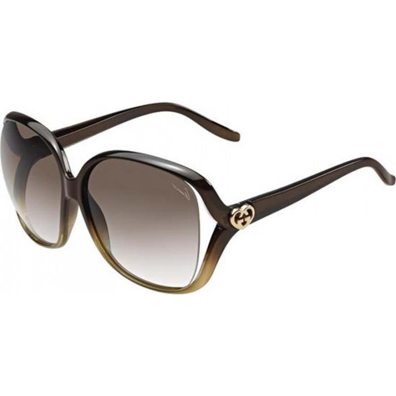 c6faa3c9059e84 Gucci 257086WNQ6002 GG 3500-S wnq 02 tmavě hnědé sluneční brýle