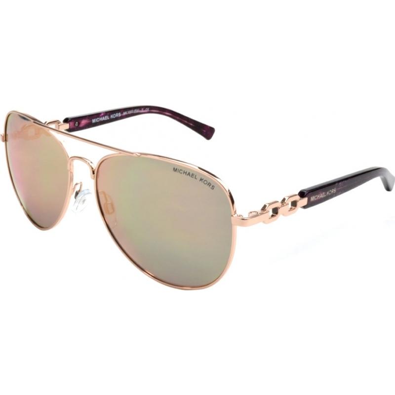 Michael Kors MK1003-58-1003R5 Mk1003 58フィジーは金1003r5サングラスをバラ