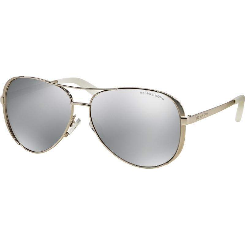0ad960c06f9 Michael Kors MK5004 59 Chelsea Silver 1001Z3 Silver Mirror Polarized  Sunglasses