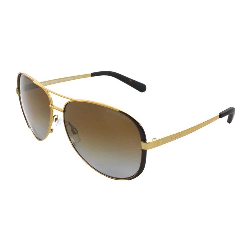 5b5e8cc424 Michael Kors MK5004 59 Chelsea Gold Chocolate Brown 1014T5 Polarized  Sunglasses