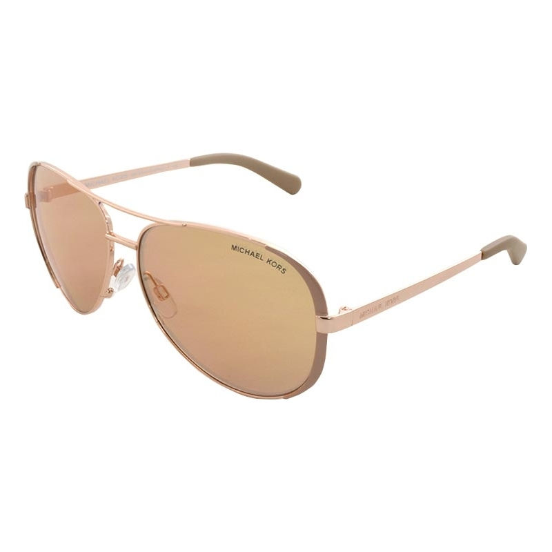 efd15df5606 Michael Kors MK5004 59 Chelsea Rose Gold Taupe 1017R1 Sunglasses