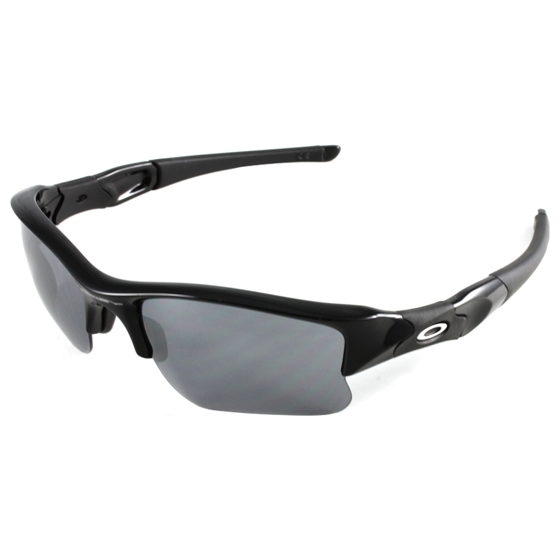 16791ef878 Oakley 03-915 03-915 Flak Jacket XLJ Jet Black - Black Iridium Sunglasses