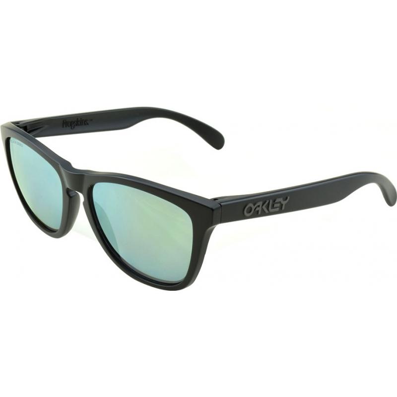 26195bc0da Oakley 24-404 24-404 Frogskins Matte Black - Emerald Iridium Polarized  Sunglasses