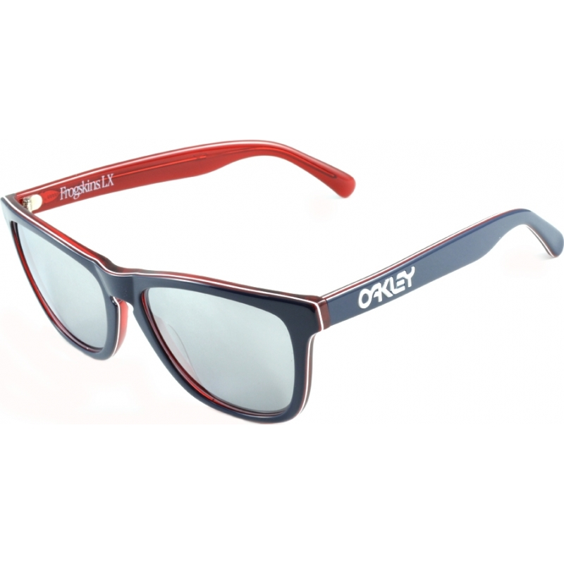 307ab0a92f Oakley OO2043-05 Global Frogskins LX Navy - Chrome Iridium Sunglasses