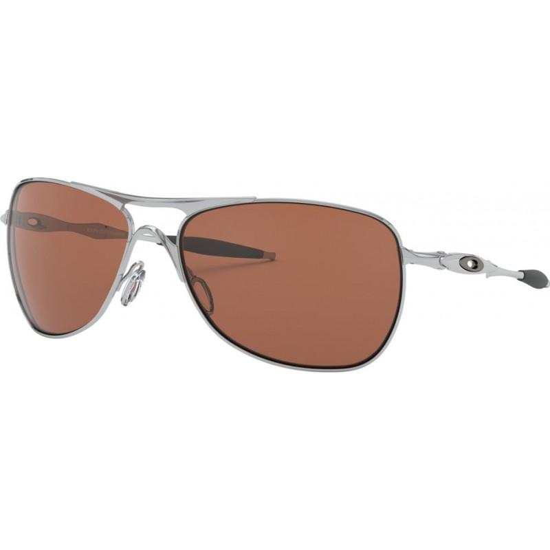 2933124413 Oakley OO4060-02 Crosshair Chrome - VR28 Black Iridium Sunglasses